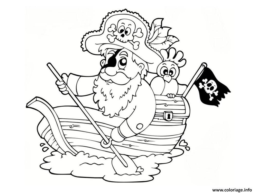 Coloriage bateau pirate maternelle - Dessin pirates ...