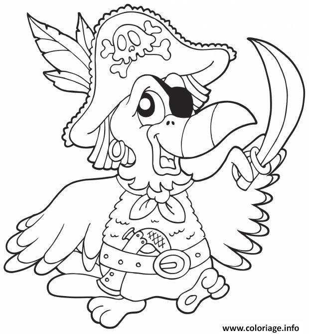 Dessin oiseau pirate maternelle Coloriage Gratuit à Imprimer