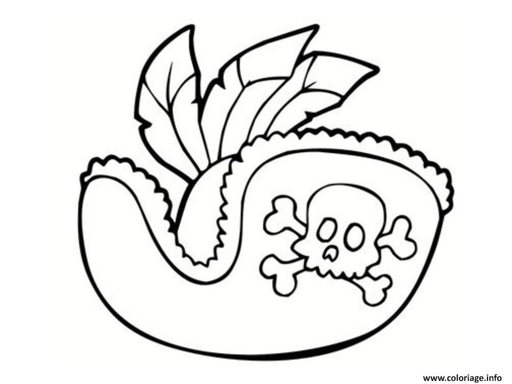 Coloriage Chapeau De Pirate Dessin Pirate A Imprimer