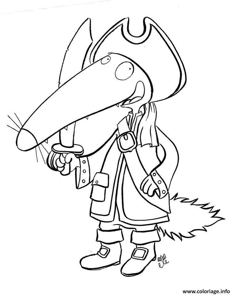 Coloriage Loup Pirate Jecolorie Com