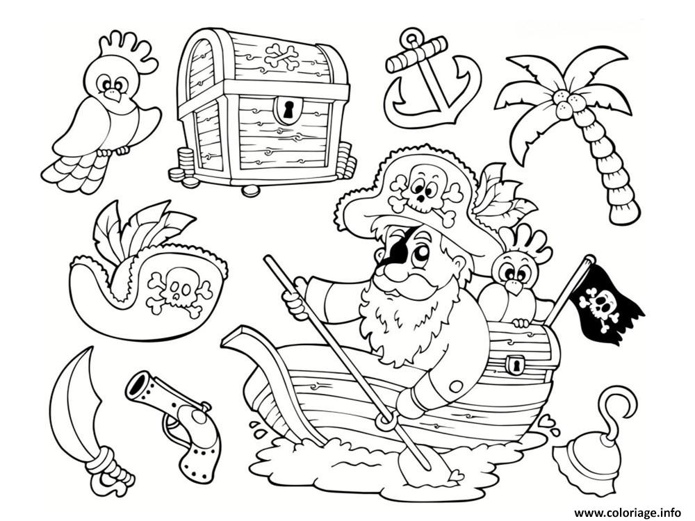 Coloriage Pirate Maternelle Facile Enfant Dessin