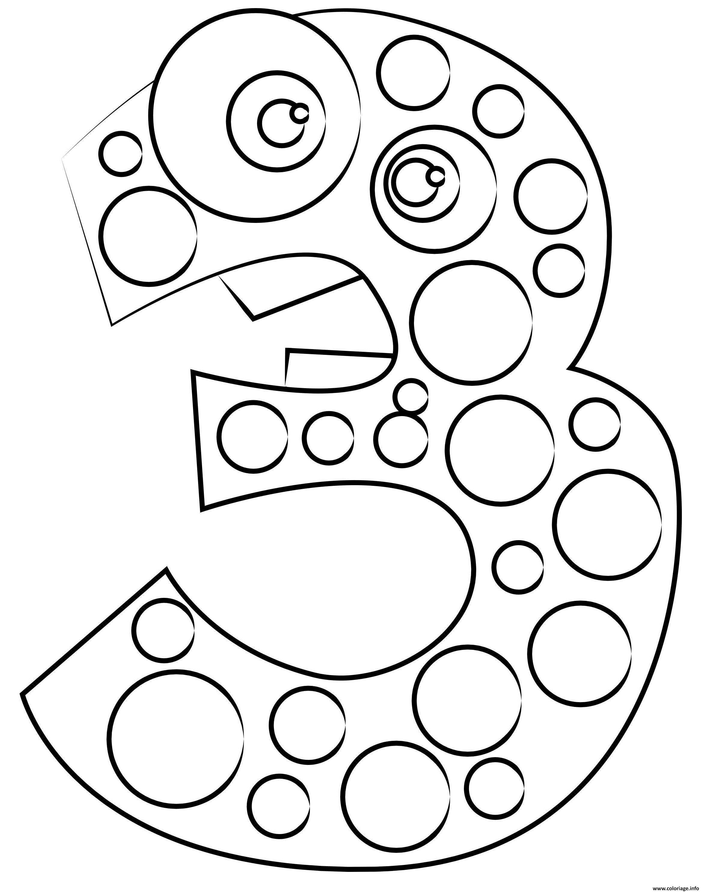 Dessin chiffre 5 maternelle Coloriage Gratuit à Imprimer