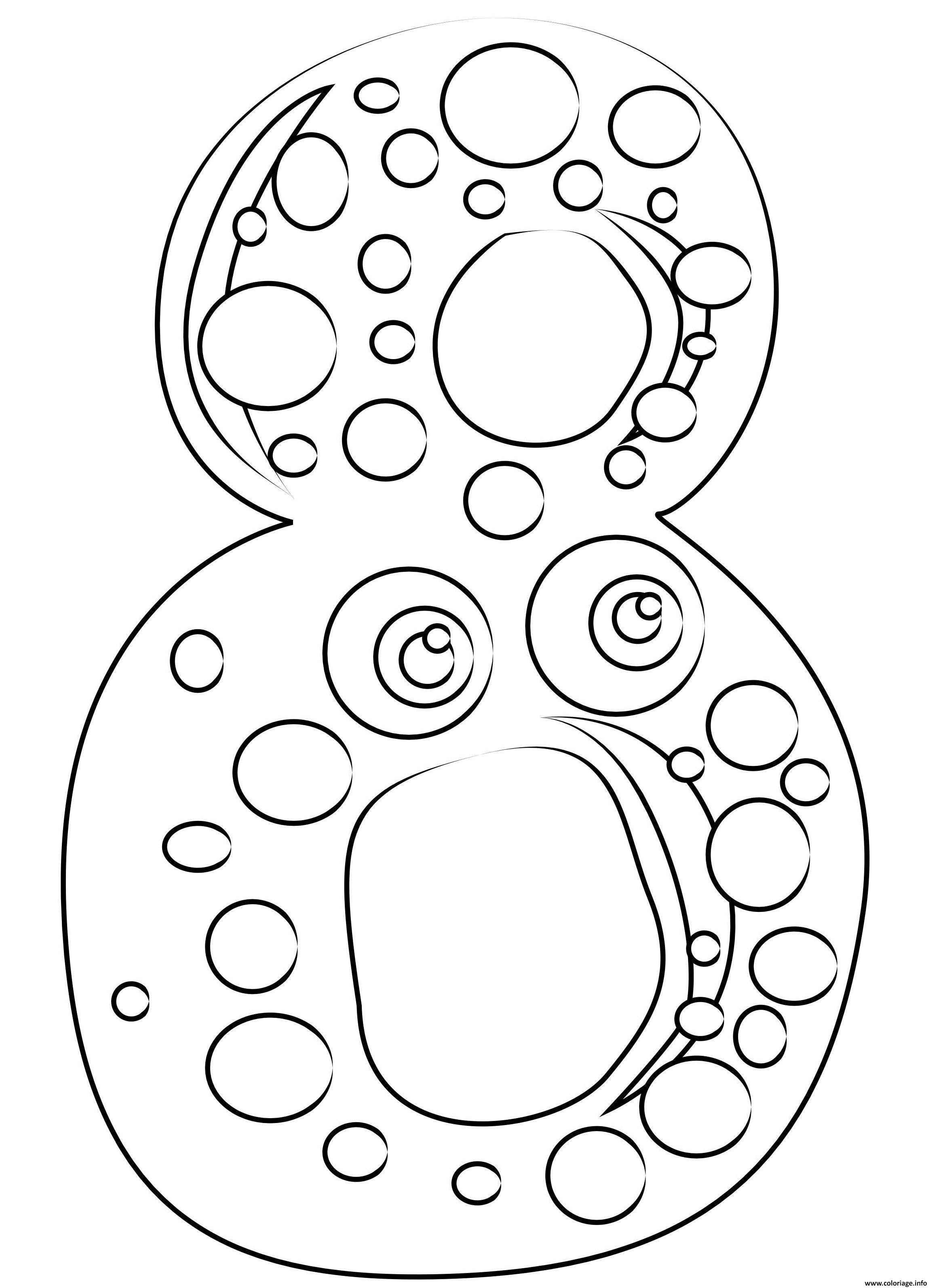 Coloriage Chiffre 8 Maternelle Dessin Chiffres à imprimer