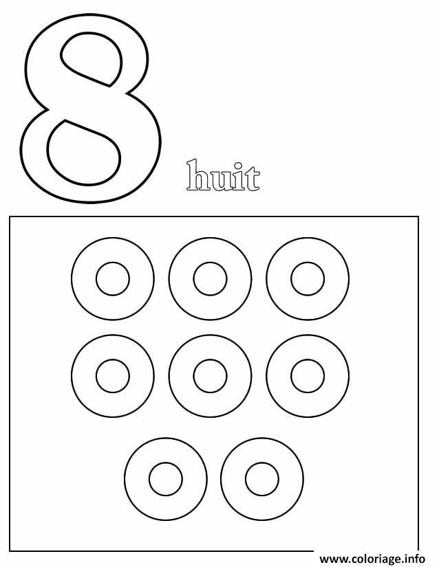 Dessin chiffre 8 avec mot et dessin Coloriage Gratuit à Imprimer