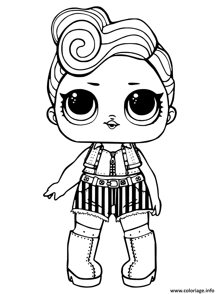 Coloriage En Ligne Lol.Coloriage Lol Surprise Dolls Dessin