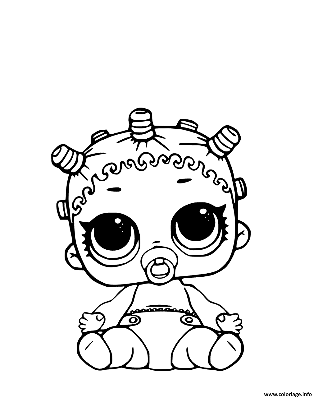 Coloriage Lil Roller Sk8ter Page Lol Doll Jecolorie Com
