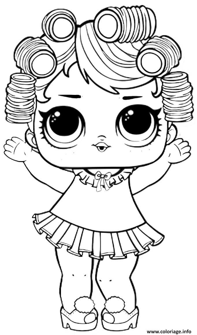 Dessin Baby Doll Lol Surprise Dollz Coloriage Gratuit à Imprimer