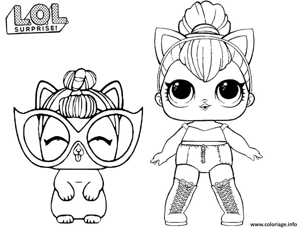 Coloriage En Ligne Lol.Coloriage Lol Kitty Queen Dessin