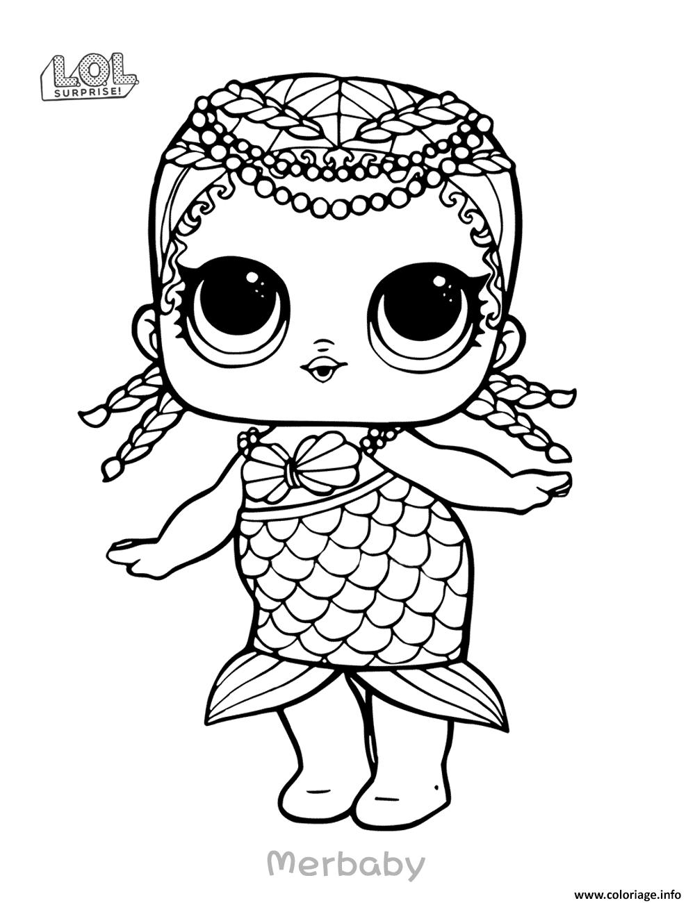 Coloriage Mermaid Lol Surprise Doll Merbaby Jecolorie Com