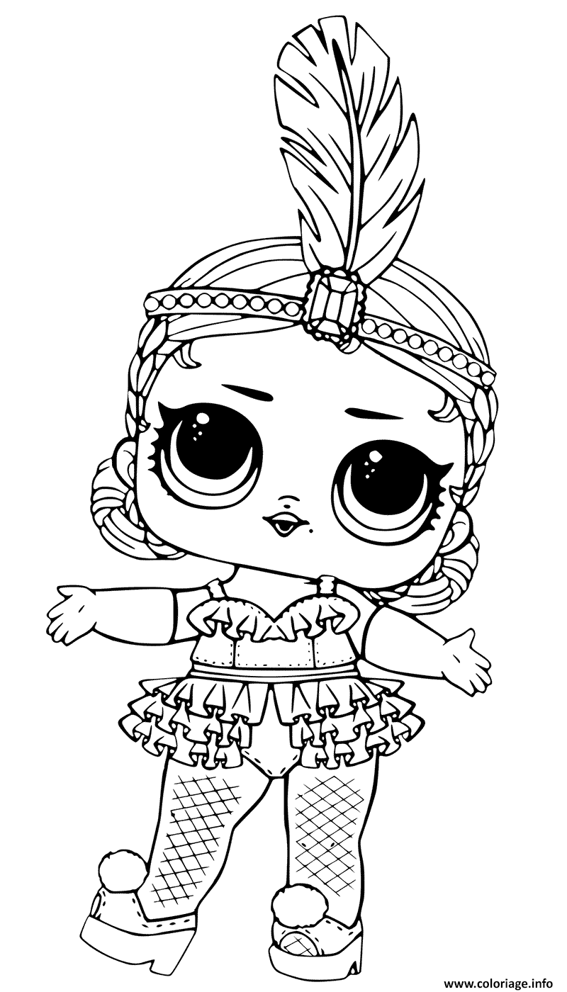Coloriage Showbaby Glamour Lol Doll Jecolorie Com