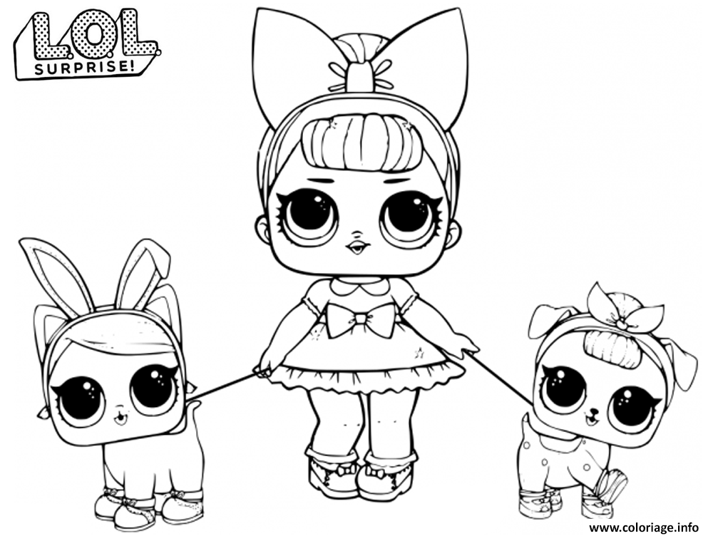 Dessin LOL Doll Fancy Baby Coloriage Gratuit à Imprimer