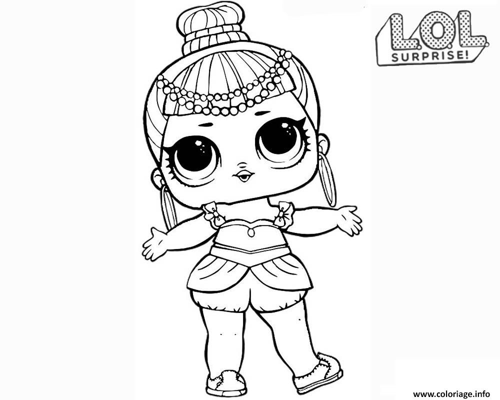 Dessin LOL Surprise Doll Genie Coloriage Gratuit à Imprimer
