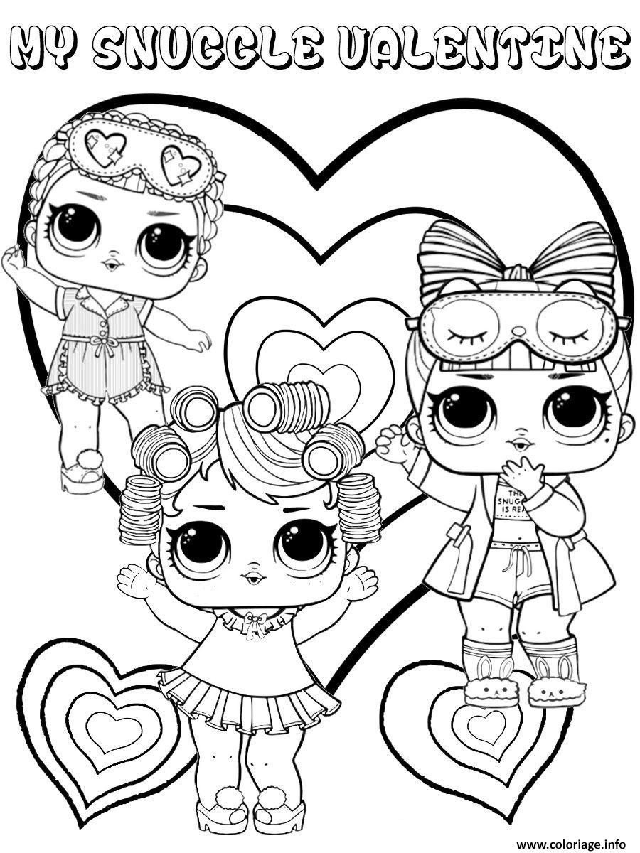 Dessin snuggle valentine lol dolls kids Coloriage Gratuit à Imprimer
