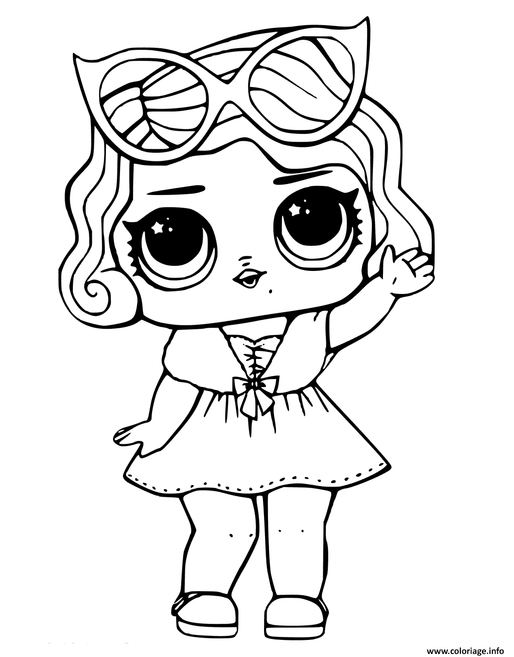 Dessin Leading Baby from LOL Surprise Coloriage Gratuit à Imprimer