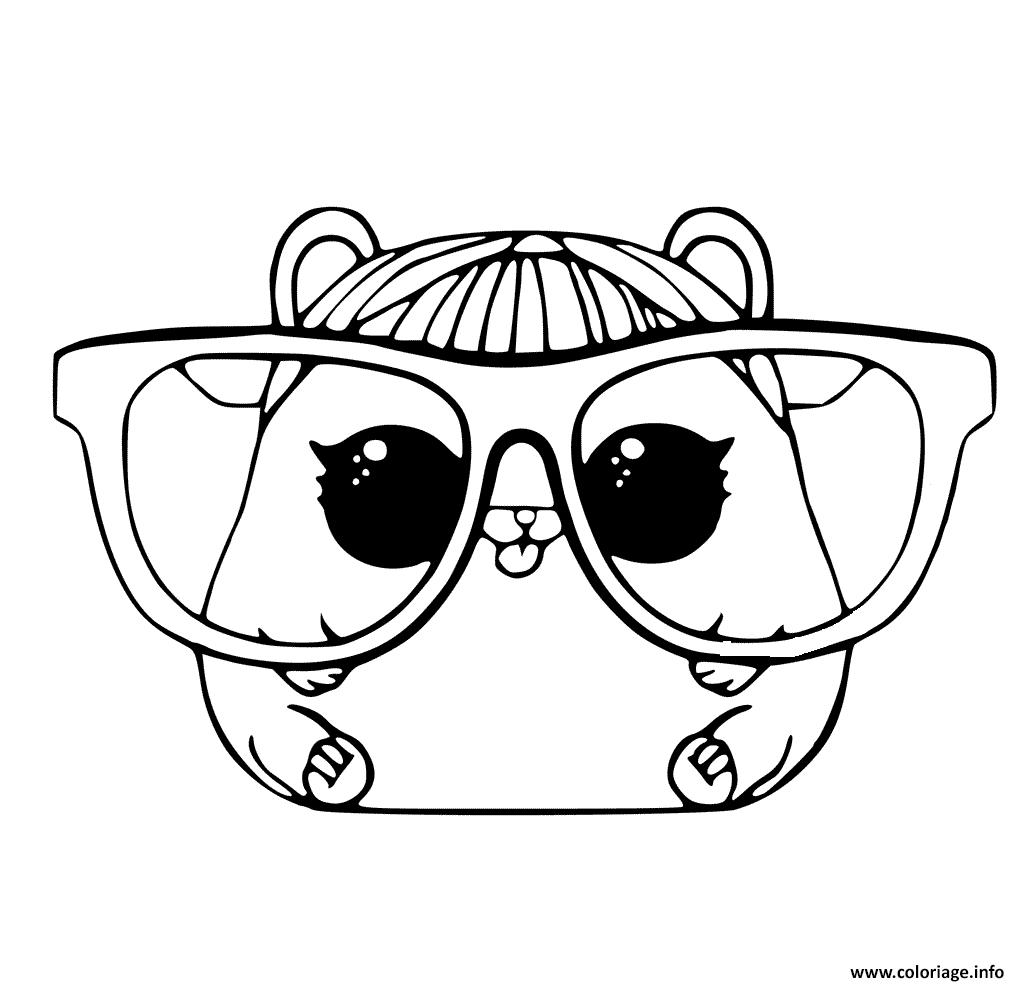 Dessin LOL Pet Page Cherry Hamster Animaux Coloriage Gratuit à Imprimer