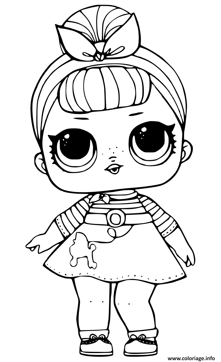 Dessin Sis Swing Doll from LOL Surprise Coloriage Gratuit à Imprimer