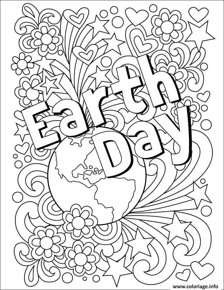 Dessin EJour de la terre adulte arth Day Coloriage Gratuit à Imprimer