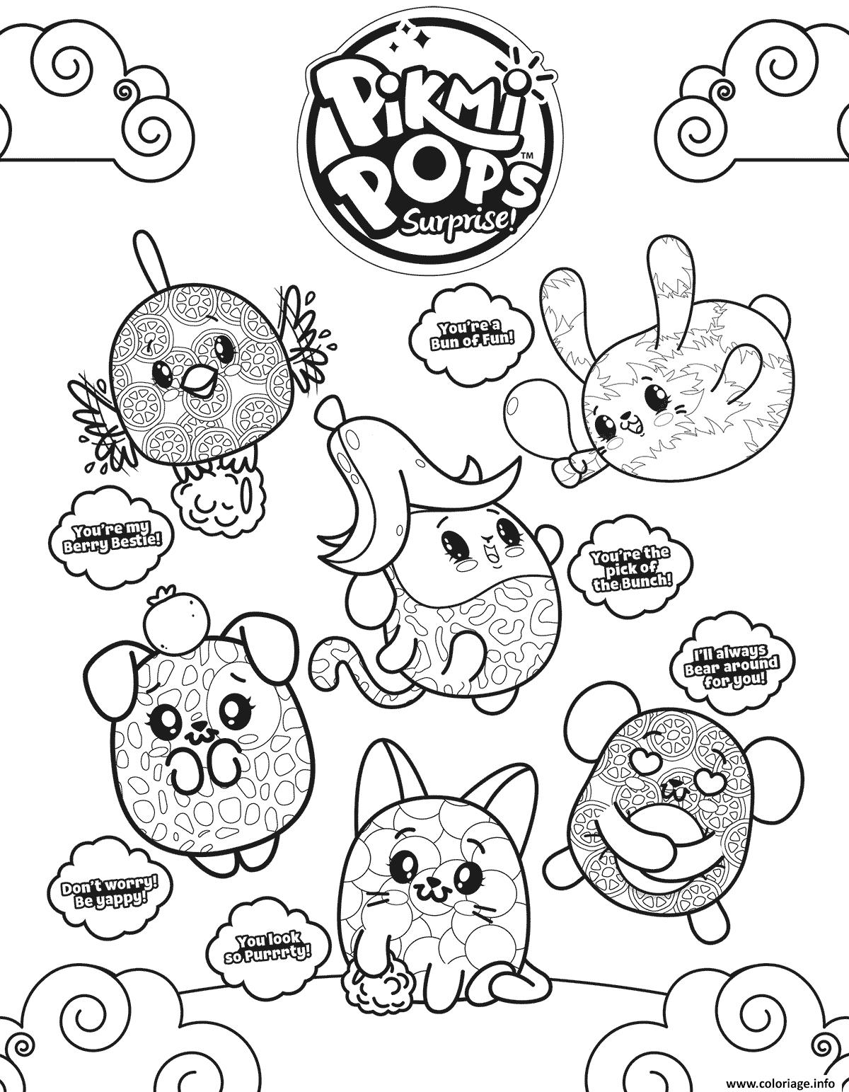 Dessin Pikmi Pops Coloriage Gratuit à Imprimer