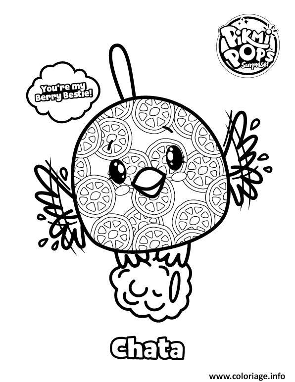 Dessin Pikmi Pops Bird Chata Coloriage Gratuit à Imprimer