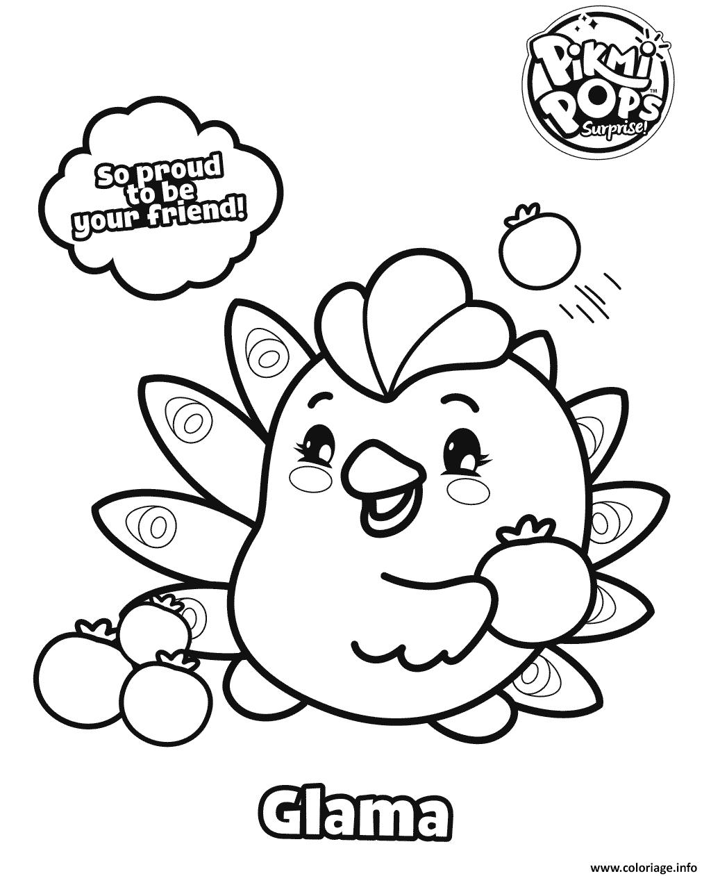 Dessin Pikmi Pops Glama Coloriage Gratuit à Imprimer