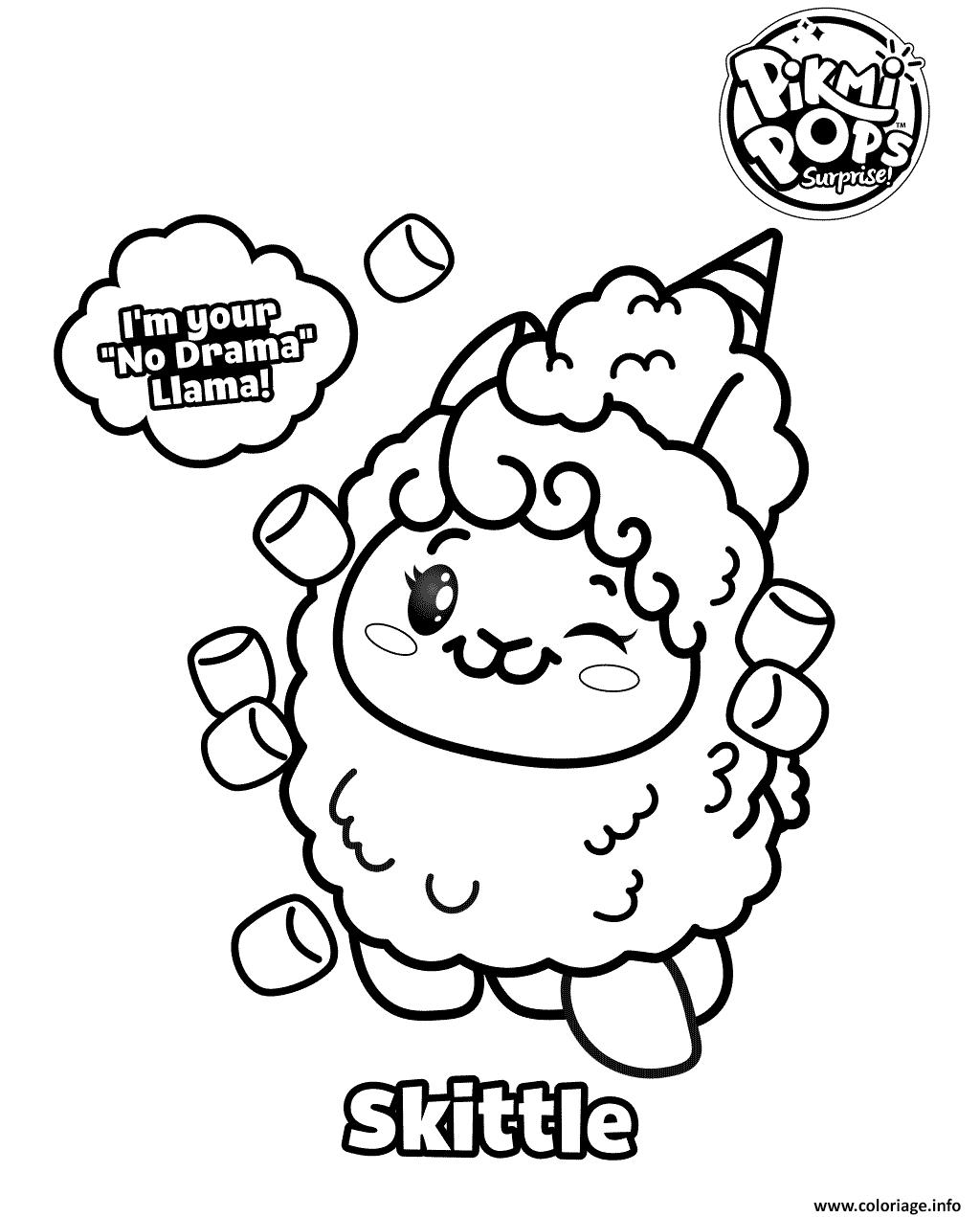 Dessin Pikmi Pops Coloring for Kids Coloriage Gratuit à Imprimer