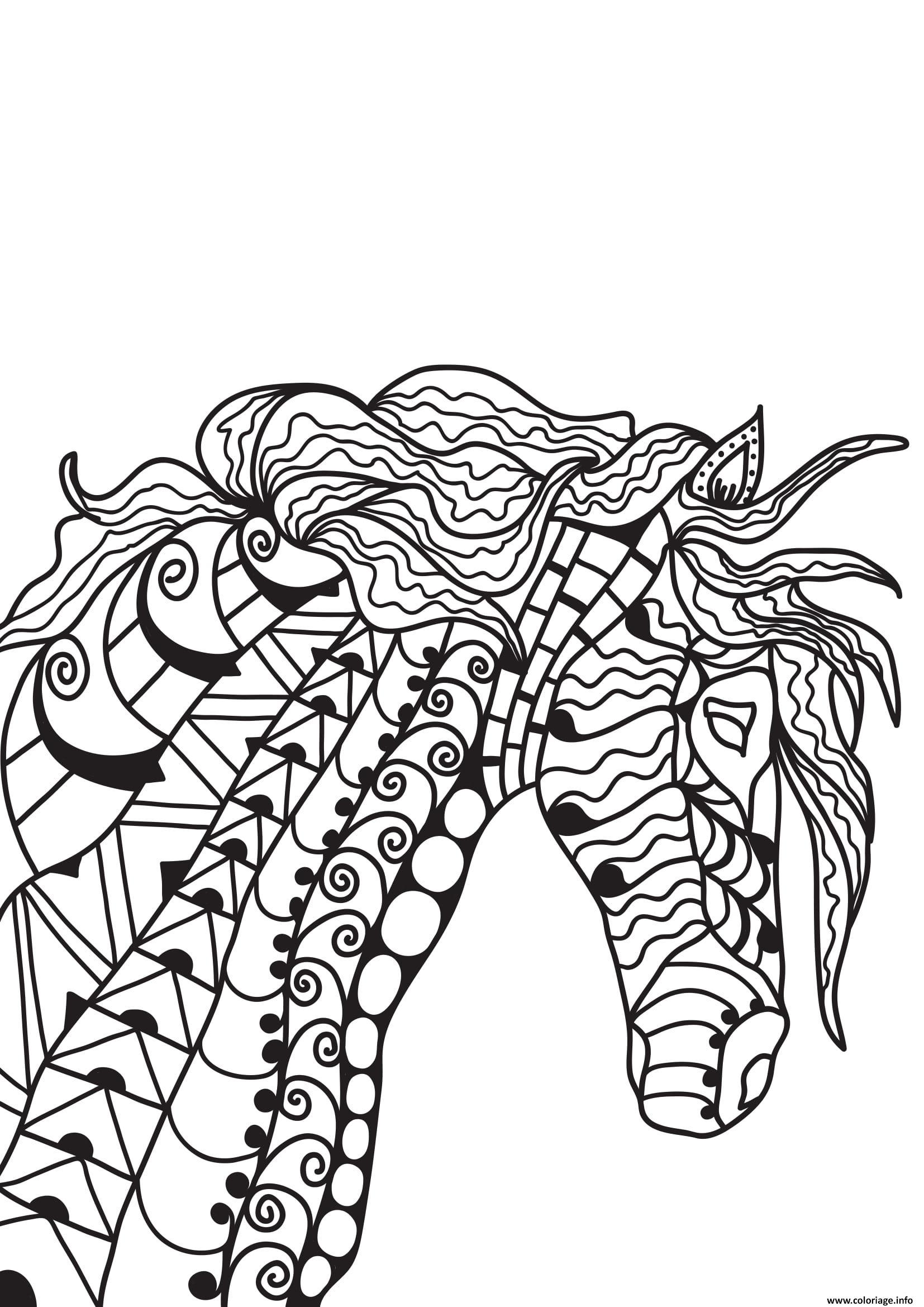 Coloriage Cheval Zen.Coloriage Cheval Pour Adulte 33 Jecolorie Com