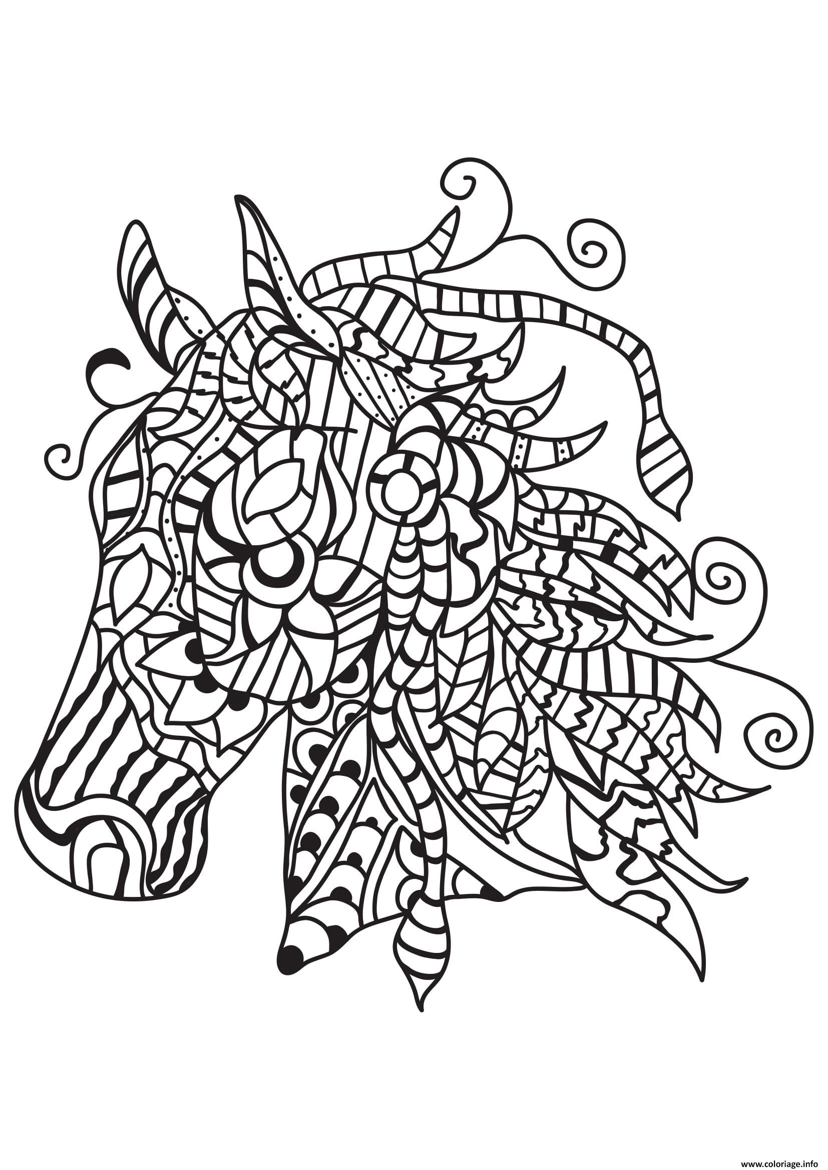 Dessin adulte cheval au galot 18 Coloriage Gratuit à Imprimer