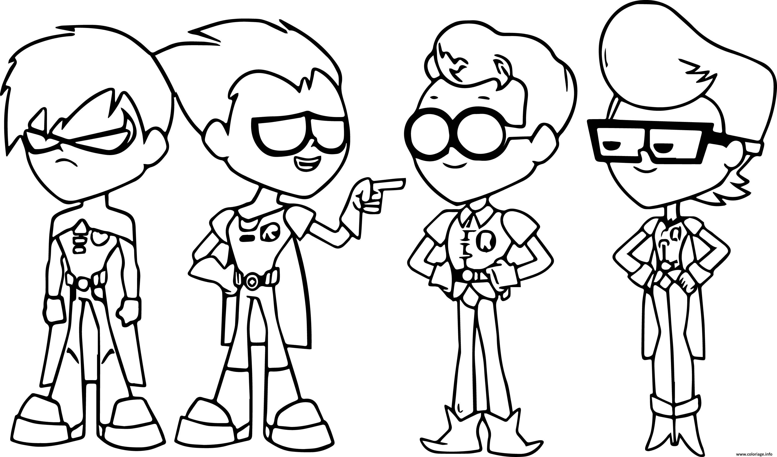 Coloriage Teen Titans Go Robin Dessin Teen Titans Go à ...
