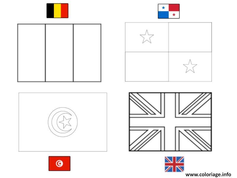 Coloriage Fifa Coupe Du Monde 2018 Groupe G Belgique Panama
