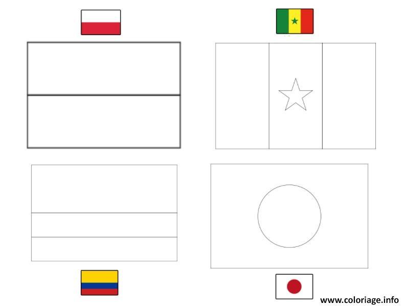 Coloriage Fifa Coupe Du Monde 2018 Goupe H Pologne Senegal Colombie