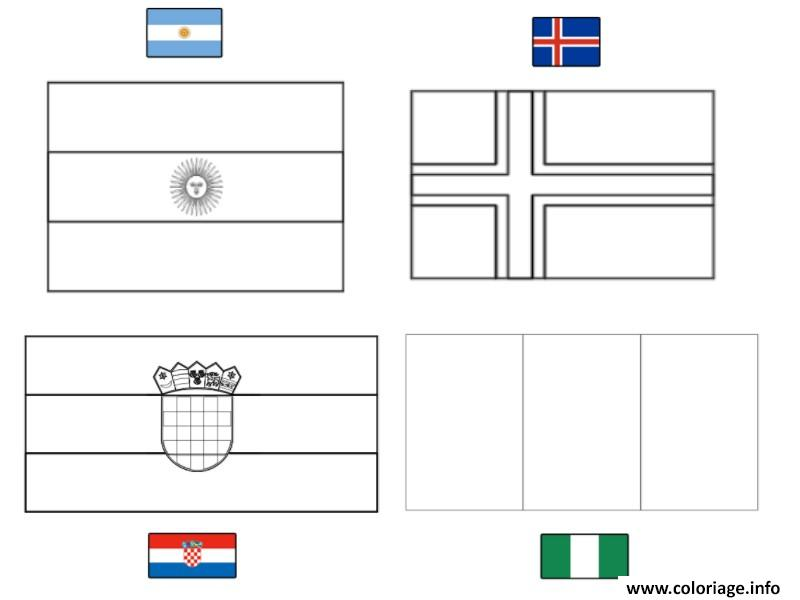 coloriage fifa coupe du monde 2018 groupe d argentine islande croatie nigeria dessin. Black Bedroom Furniture Sets. Home Design Ideas