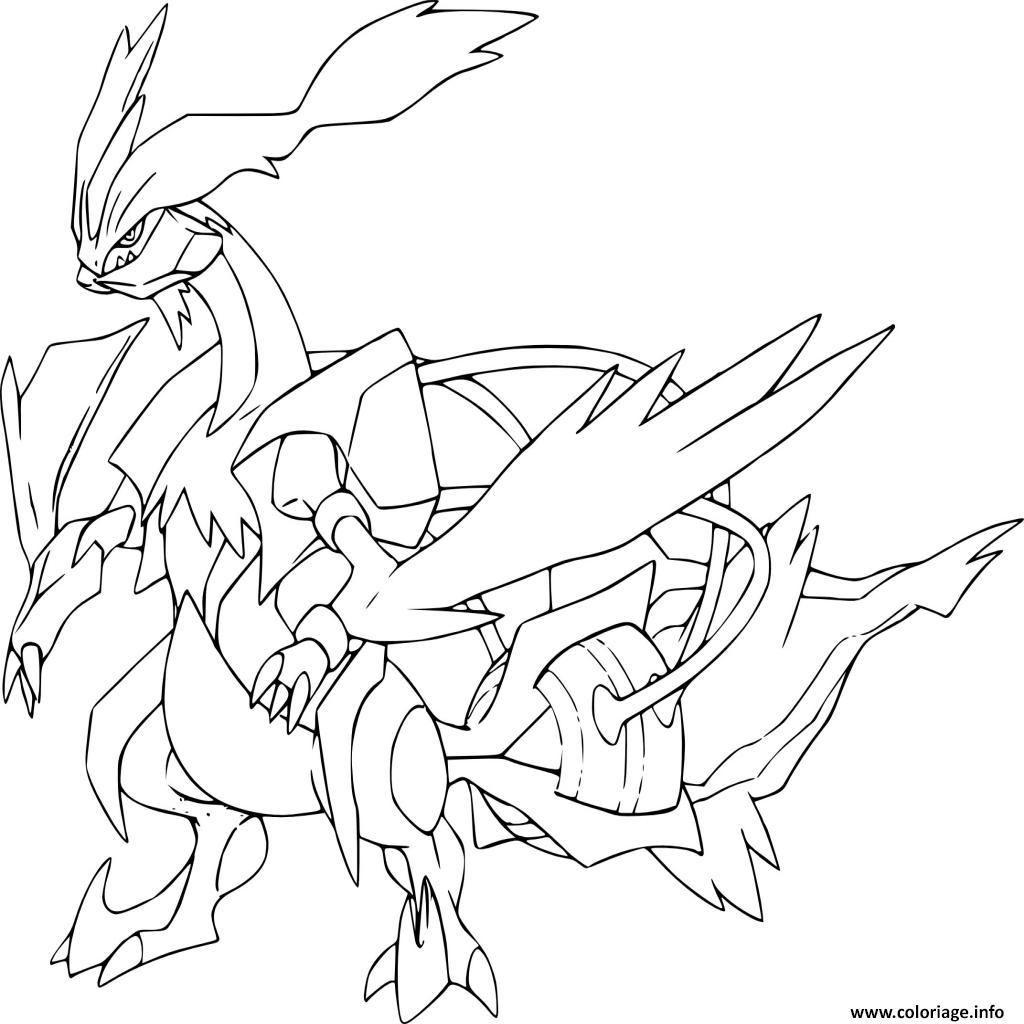 Coloriage kyurem blanc pokemon legendaire - Coloriage pokemon legendaire a imprimer ...