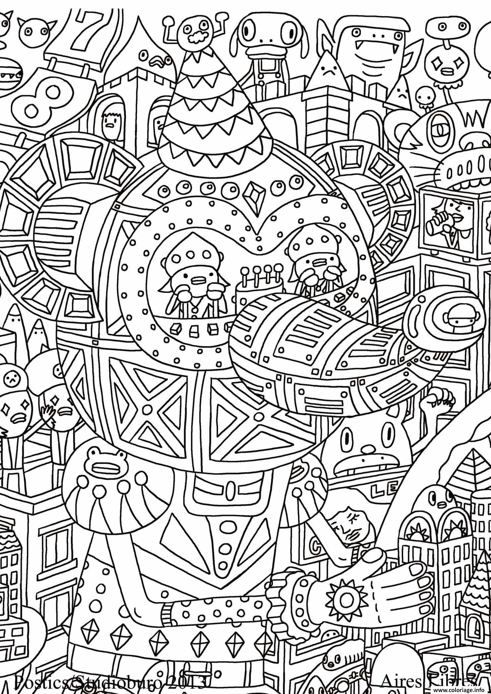 Coloriage Anti Stress Adulte Cultura Fantastique dessin