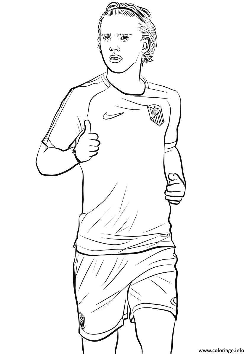 Coloriage antoine griezmann joueur france coupe du monde 2018 dessin - France football gratuit ...