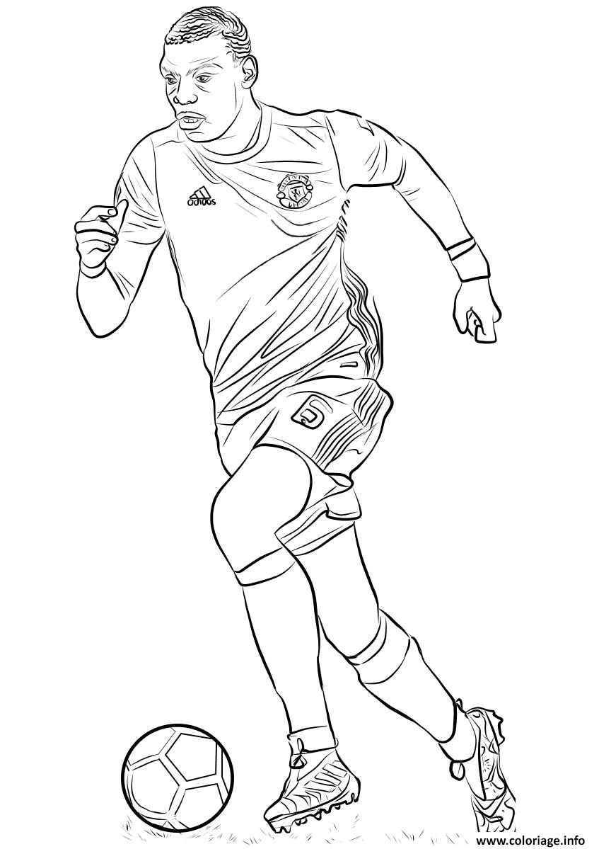 coloriage paul pogba joueur coupe du monde
