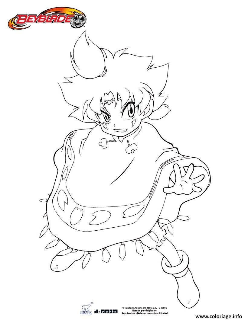Coloriage Beyblade Burst Tithi Jecolorie Com