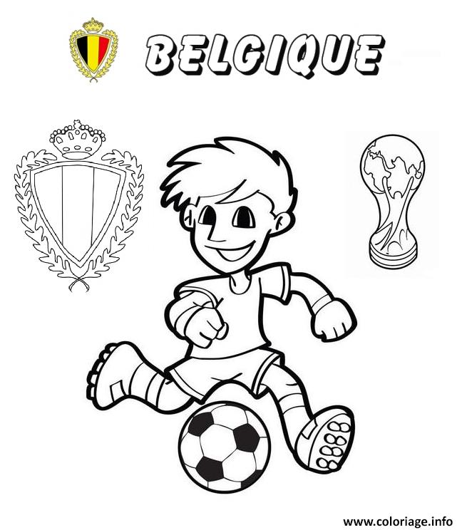 Coloriage Foot Belgique.Coloriage Belgique Football Coupe Du Monde 2018 Jecolorie Com