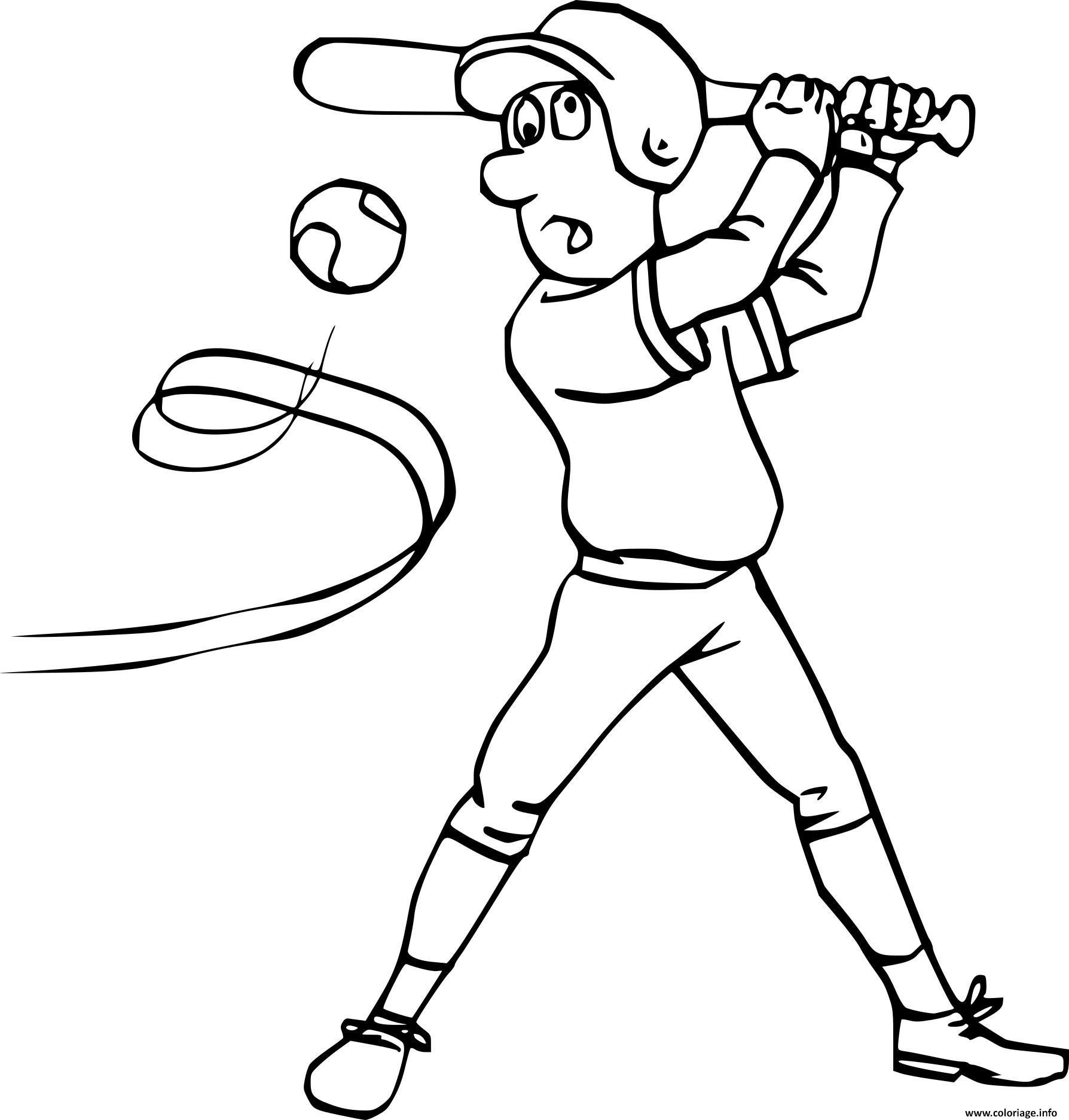 Dessin sport baseball Coloriage Gratuit à Imprimer