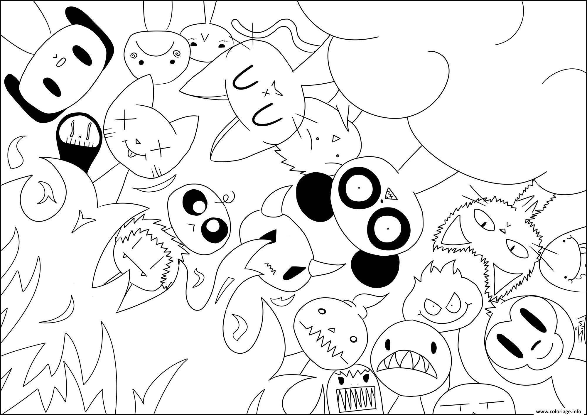 Coloriage Chocolat Kawaii.Coloriage Kawaii Paradis Enfer Par Jim Dessin