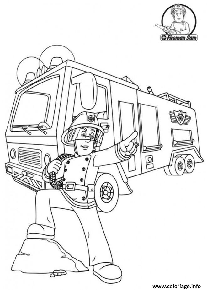 Dessin fireman sam Coloriage Gratuit à Imprimer