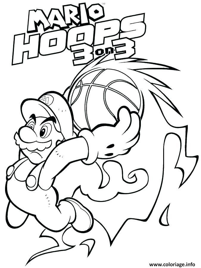 Coloriage Mario Odyssey Nintendo Hoops 3 On 3 Jecolorie Com