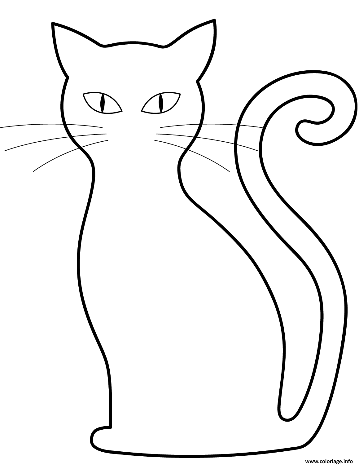 Coloriage chat noir halloween dessin - Un chat a colorier ...