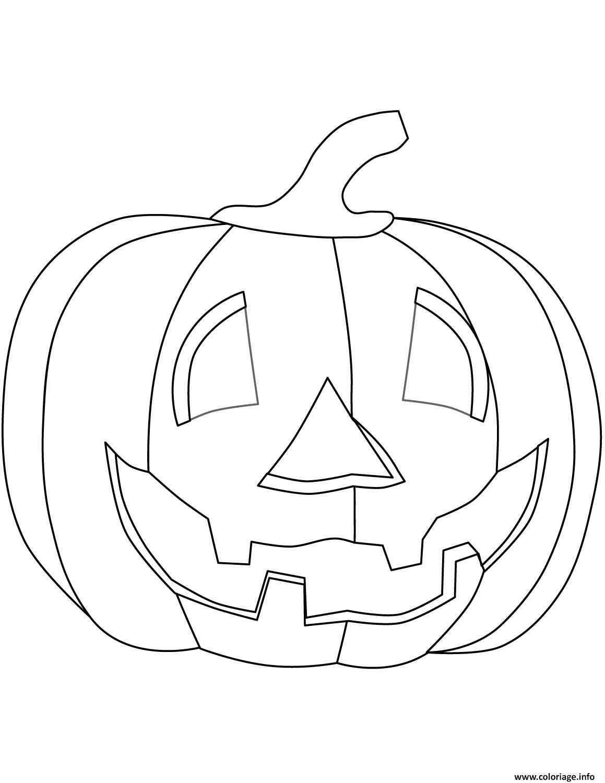 Coloriage Citrouille Halloween Enfants Dessin Halloween ...