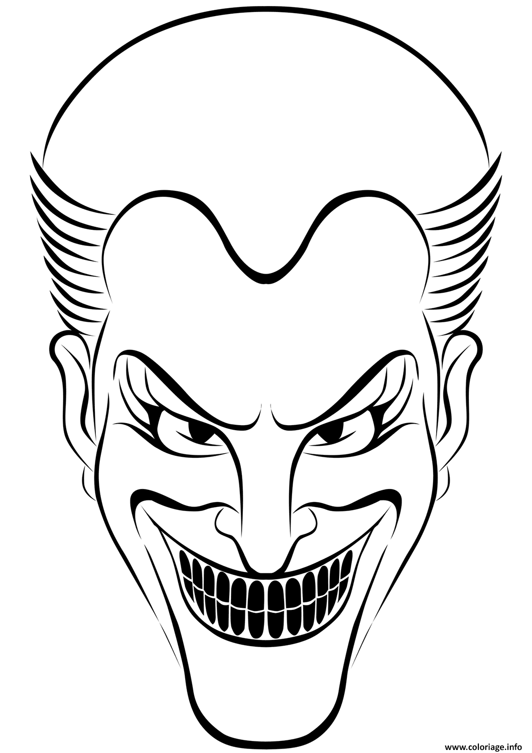 Coloriage Gratuit Joker.Coloriage Joker Halloween Dessin