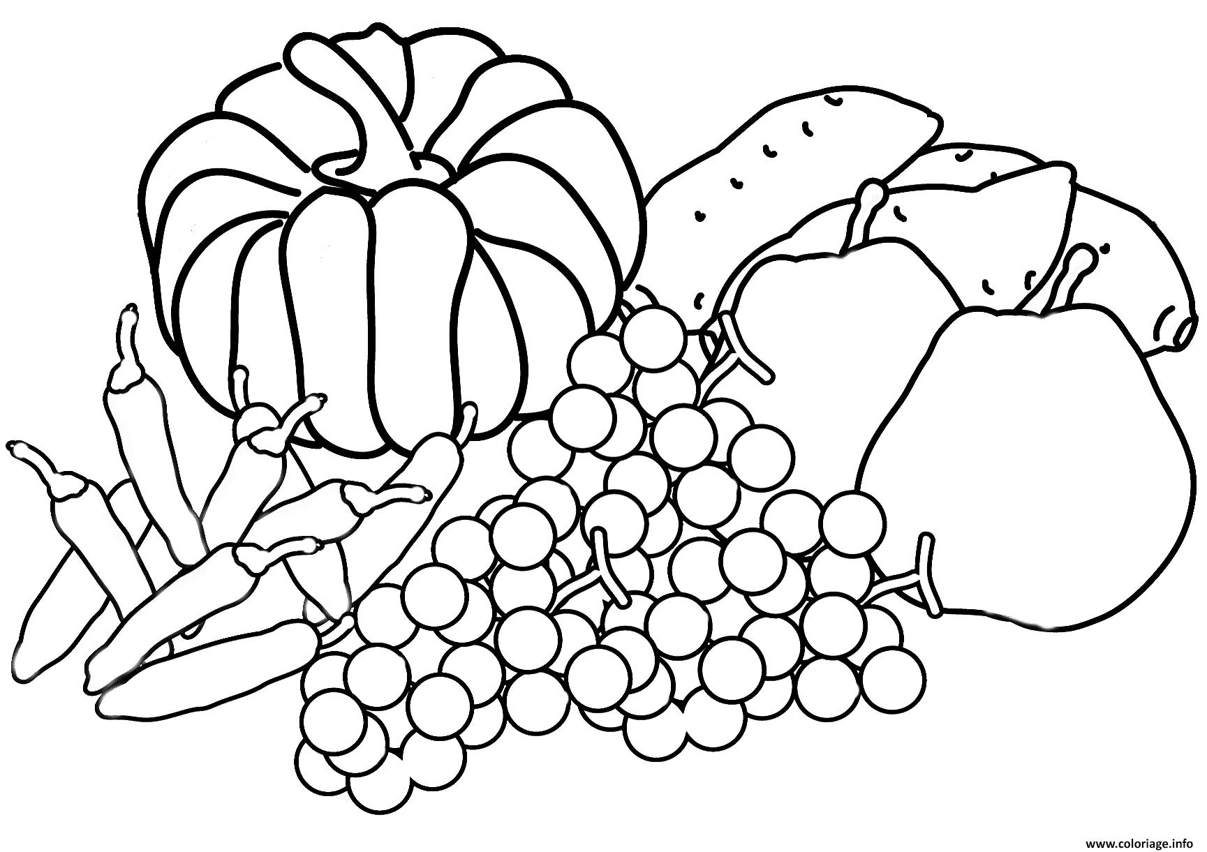 Coloriage Automne Harvest Coloring Page Fall Jecolorie Com