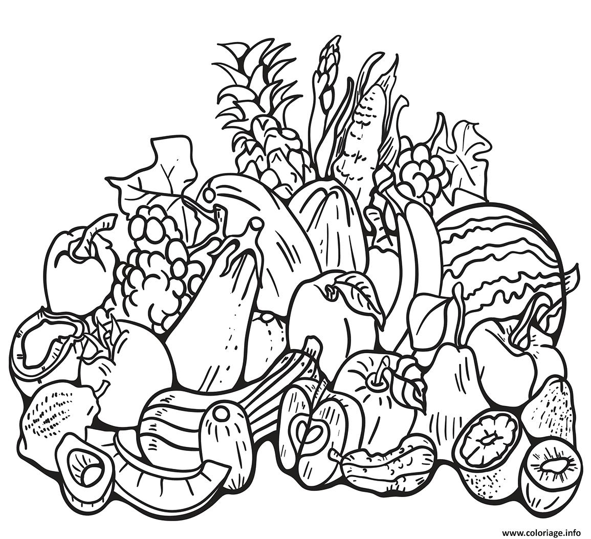 Coloriage Automne Harvest Dessin
