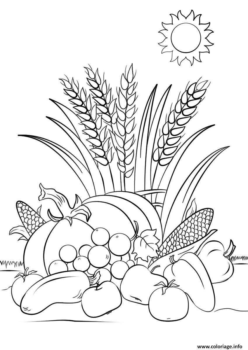Coloriage Automne Harvest Automne dessin