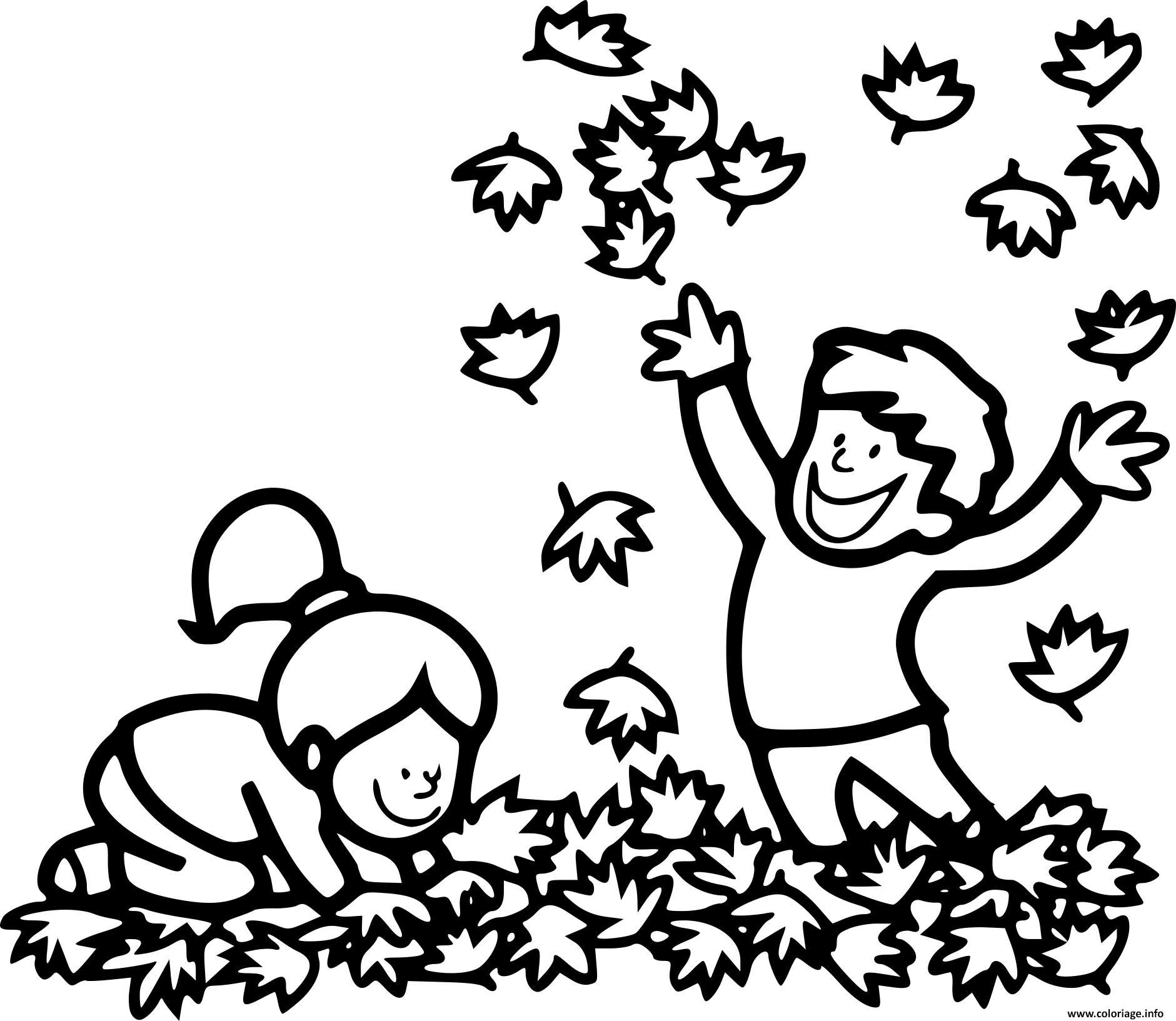 Coloriage Automne Cp Enfants Dessin Automne à imprimer
