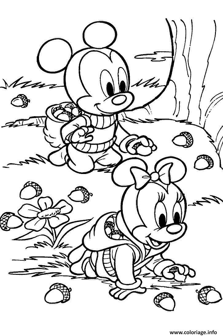 Coloriage Automne Disney Dessin