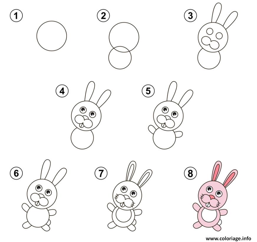 Coloriage apprendre a dessiner lapin - Apprendre a dessiner pokemon ...